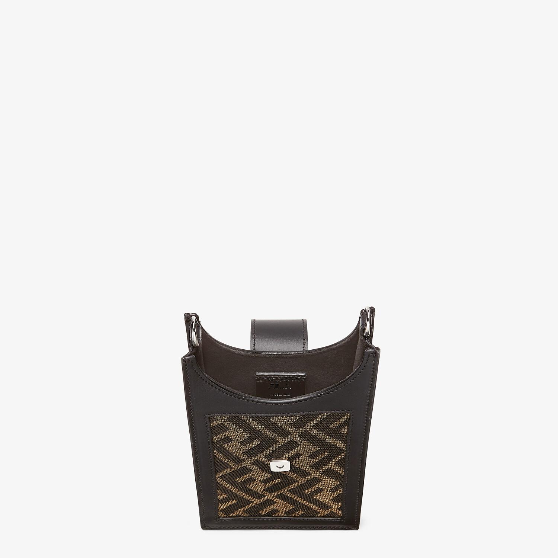 FENDI PHONE BAG - Brown fabric mobile phone holder - view 4 detail
