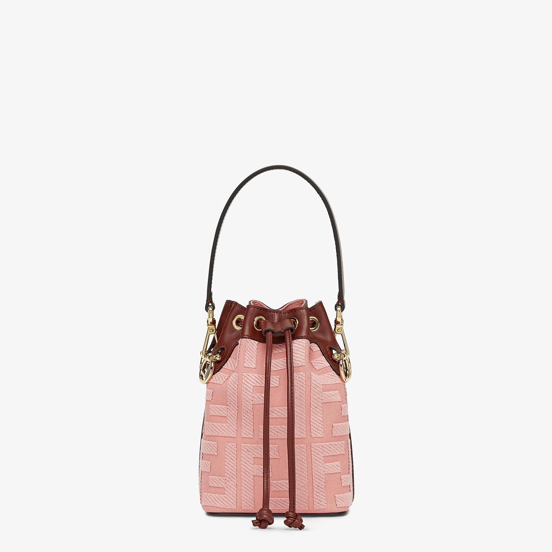 FENDI MON TRESOR - Pink canvas mini-bag - view 1 detail