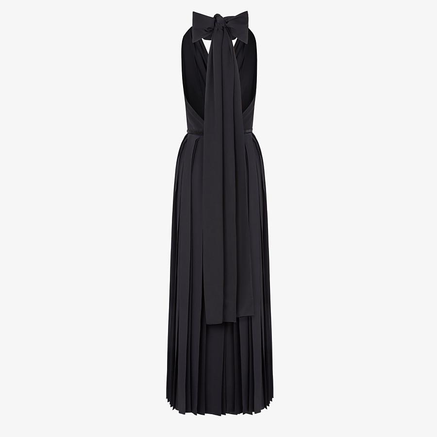 FENDI DRESS - Black silk crêpe de Chine dress - view 2 detail