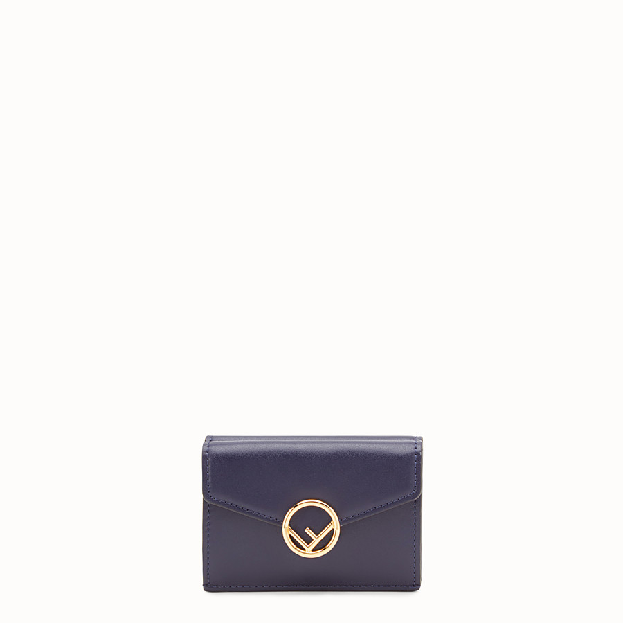 FENDI MICRO TRIFOLD - Blue leather wallet - view 1 detail