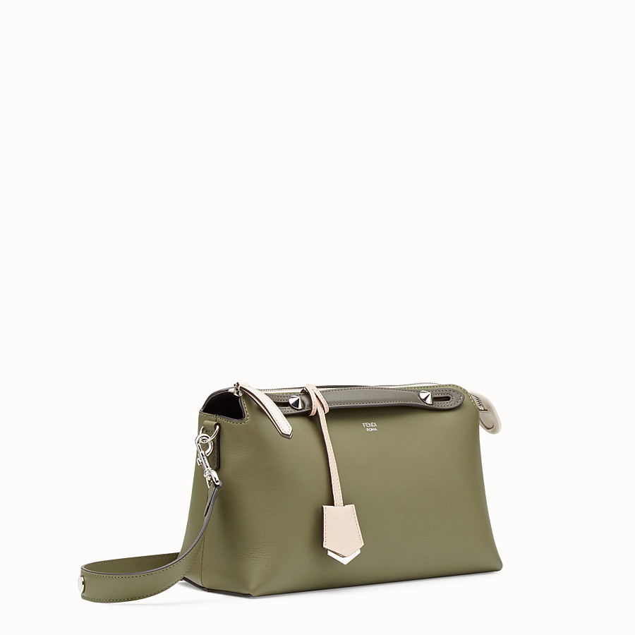 FENDI BY THE WAY REGULAR - Green leather Boston bag - view 2 detail