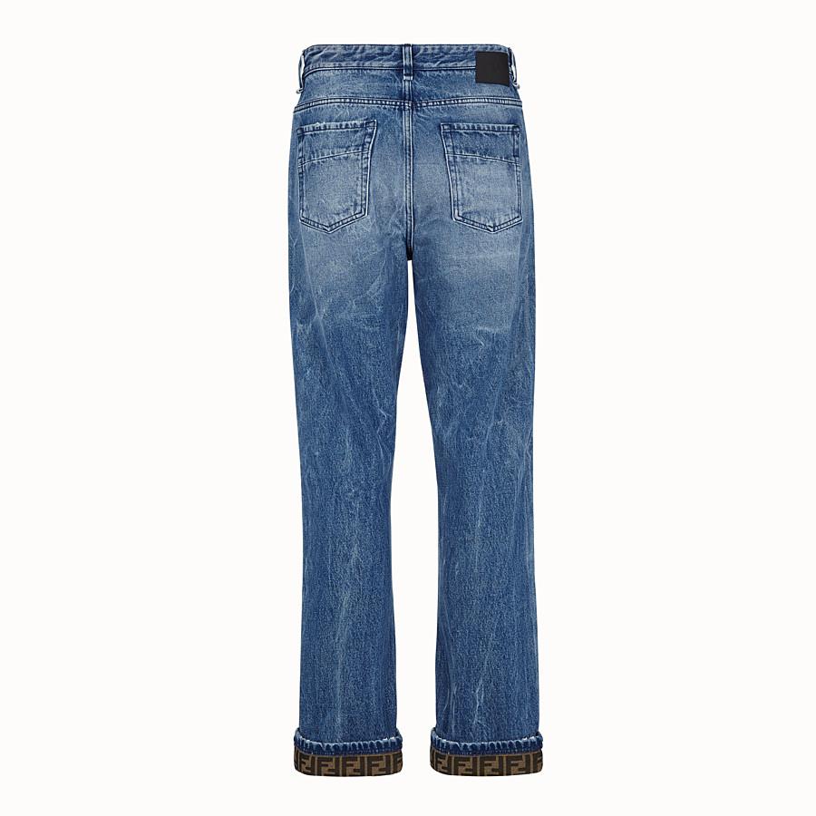 FENDI DENIM - Dark blue denim jeans - view 2 detail