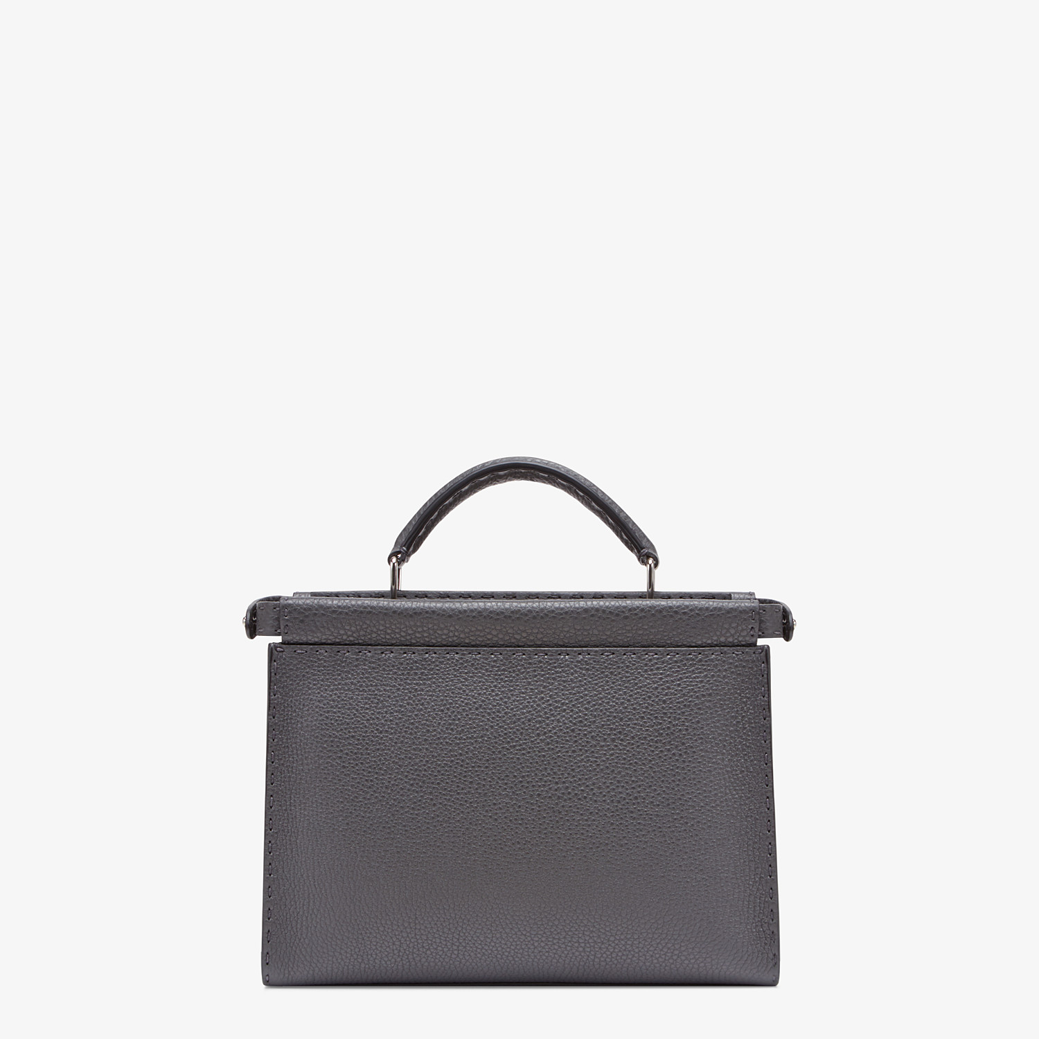 FENDI PEEKABOO ICONIC FIT MINI - Gray calfskin bag - view 3 detail