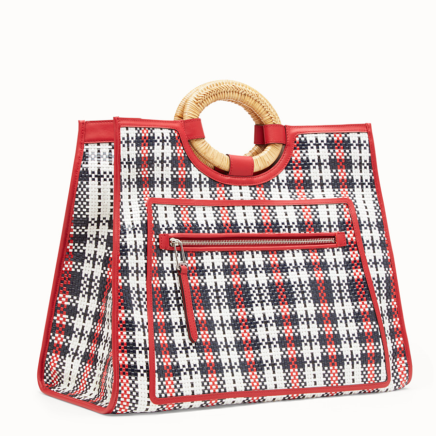 FENDI RUNAWAY SHOPPER - Multicolour braided shopper - view 2 detail