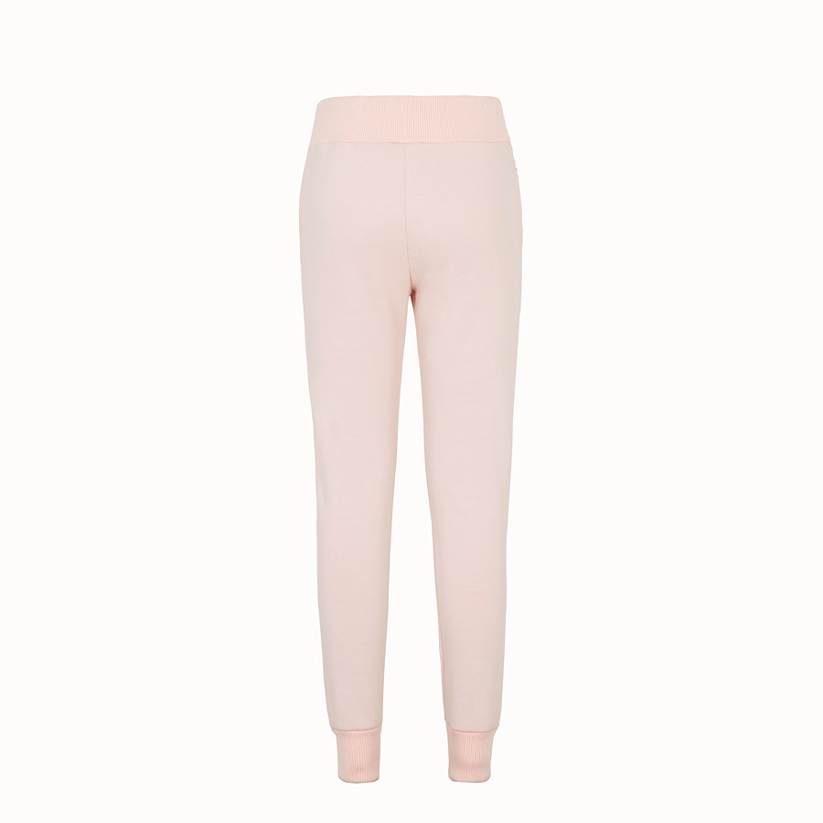 FENDI TROUSERS - Pink fabric tracksuit trousers - view 2 detail