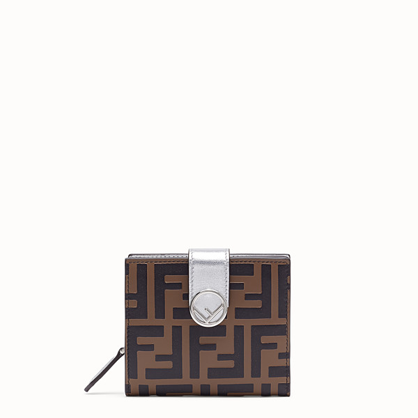 FENDI BIFOLD - Compact, silver leather wallet - view 1 small thumbnail