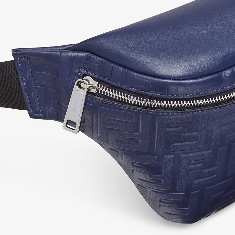FENDI BELT BAG - Blue calf leather belt bag - view 5 detail