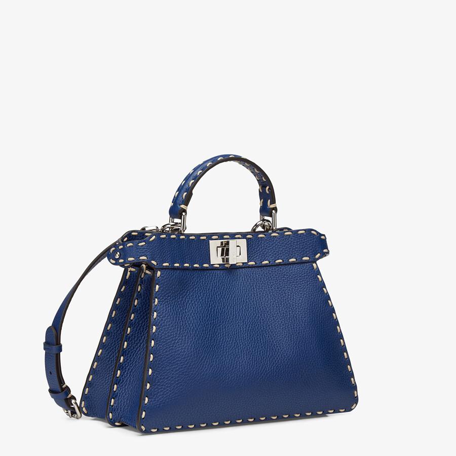 FENDI PEEKABOO ISEEU SMALL - Blue full grain leather bag - view 2 detail