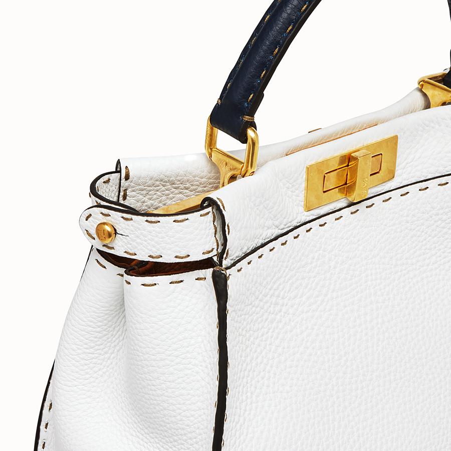 FENDI PEEKABOO ICONIC MEDIUM - White leather bag - view 6 detail