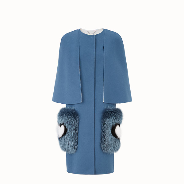 FENDI COAT - Blue wool coat - view 1 small thumbnail