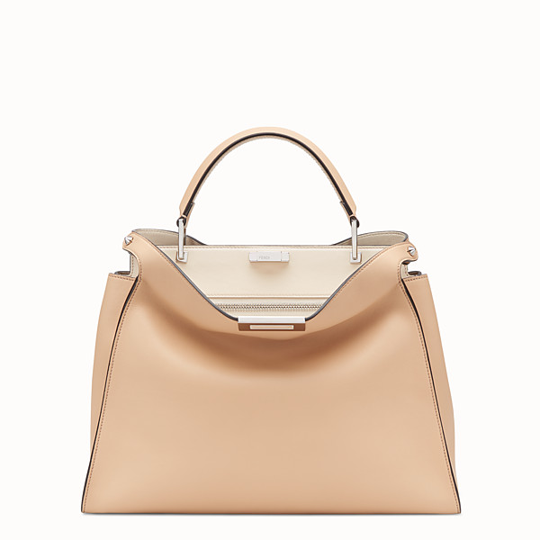 FENDI PEEKABOO ESSENTIAL - Pink leather bag - view 1 small thumbnail