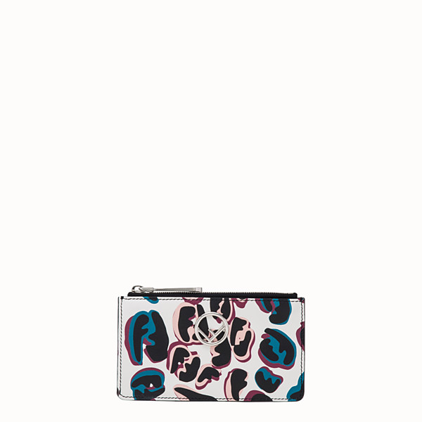 FENDI CARD POUCH - Multicolor leather pouch - view 1 small thumbnail