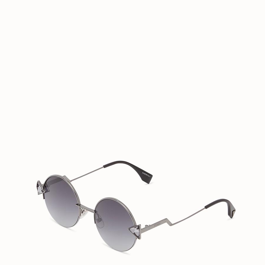 FENDI RAINBOW - Ruthenium-coloured sunglasses. - view 2 detail