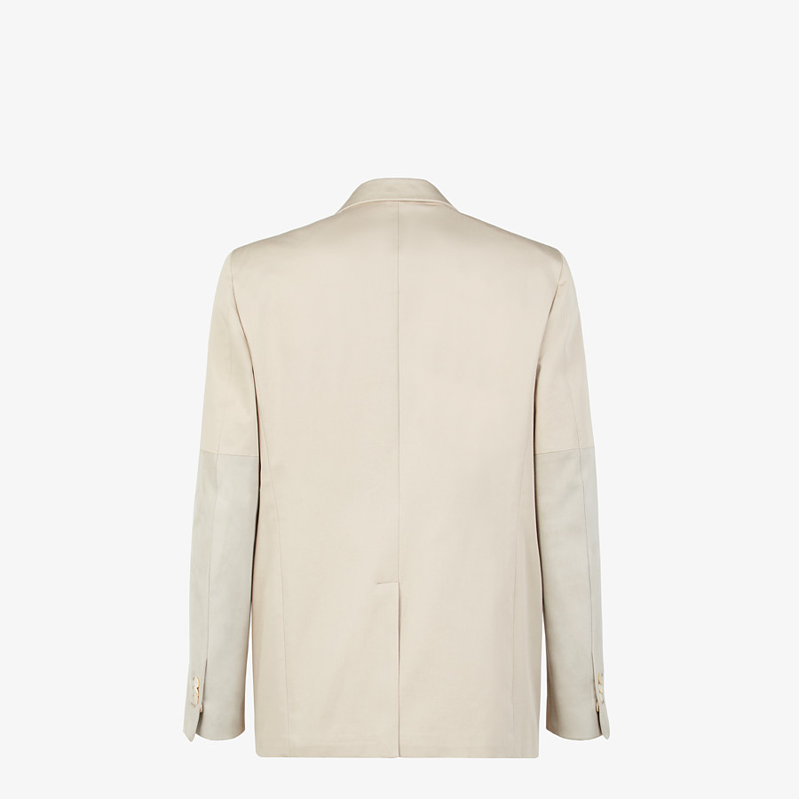 FENDI JACKET - White cotton blazer - view 2 detail