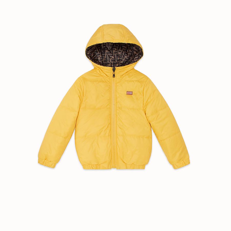FENDI JACKET - Yellow nylon down jacket - view 2 detail