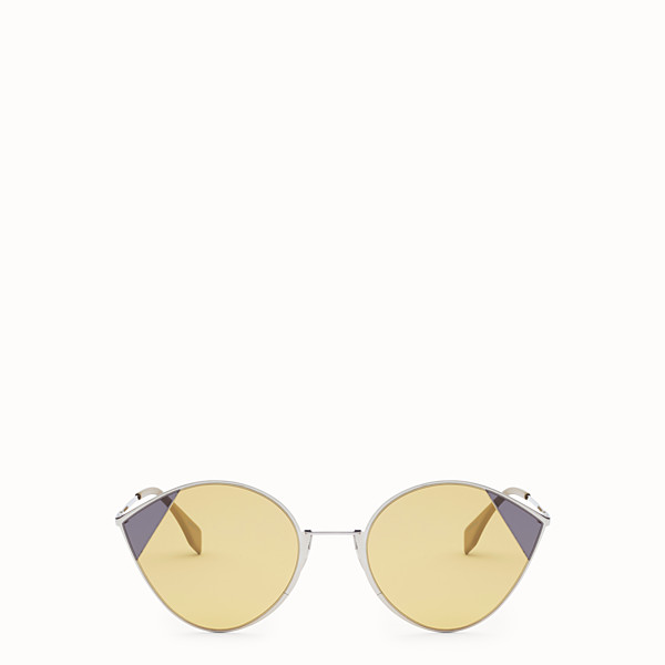 FENDI CUT-EYE - A/W18 Fashion Show silver-colour sunglasses - view 1 small thumbnail