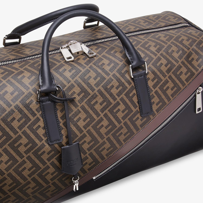 FENDI DUFFLE LARGE - Large brown fabric bag - view 5 detail