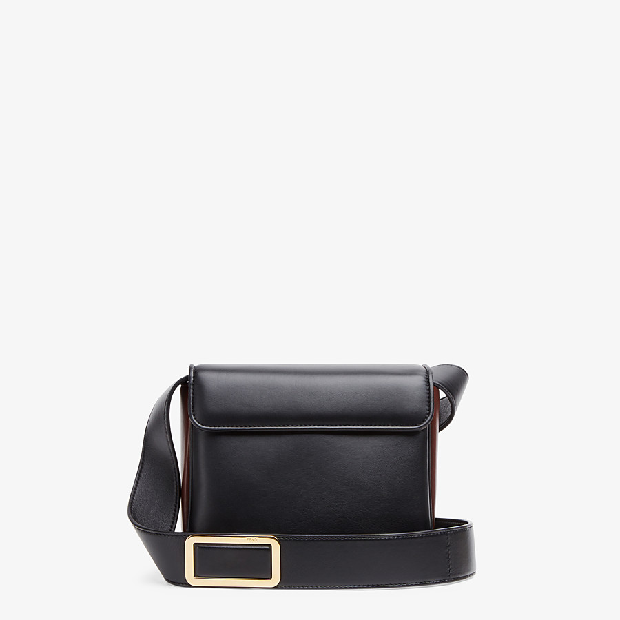 FENDI FENDI ID SMALL - Black leather bag - view 3 detail