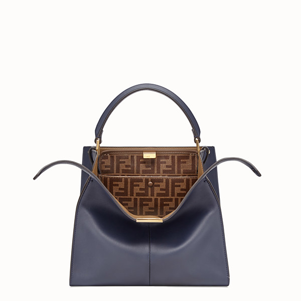 FENDI PEEKABOO X-LITE MEDIUM - Bolso de piel azul - view 1 small thumbnail