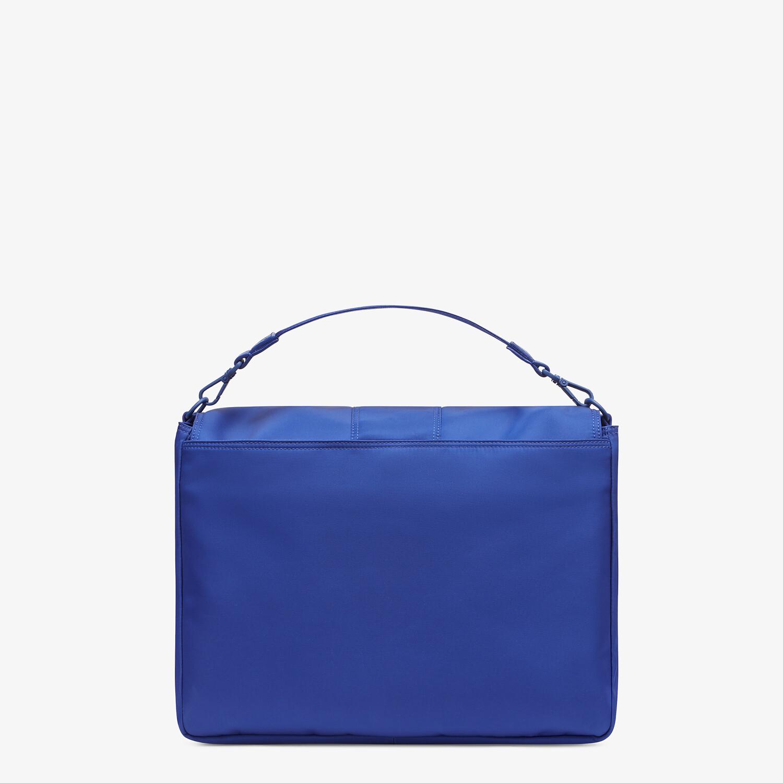 FENDI BAGUETTE MESSENGER BAG LARGE - Blue nylon bag - view 3 detail