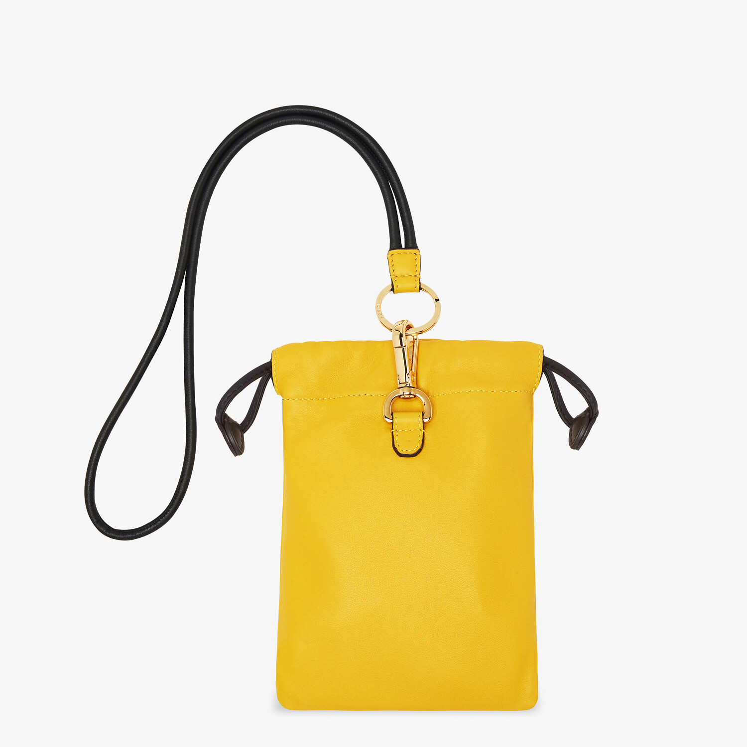 FENDI PHONE POUCH - Yellow nappa leather pouch - view 2 detail