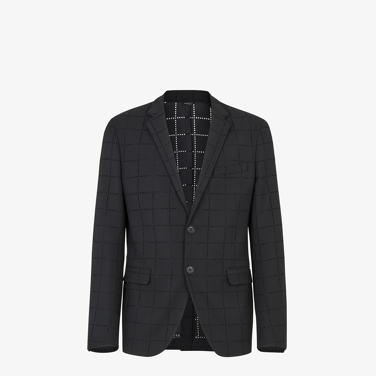 FENDI JACKET - Black wool blazer - view 1 detail