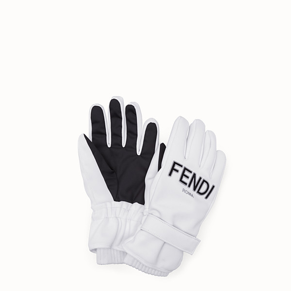 FENDI GLOVES - White tech fabric gloves - view 1 small thumbnail
