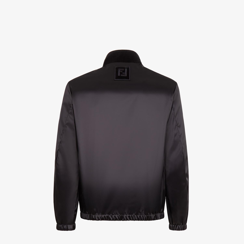 FENDI JACKET - Black tech fabric and velvet windbreaker - view 2 detail