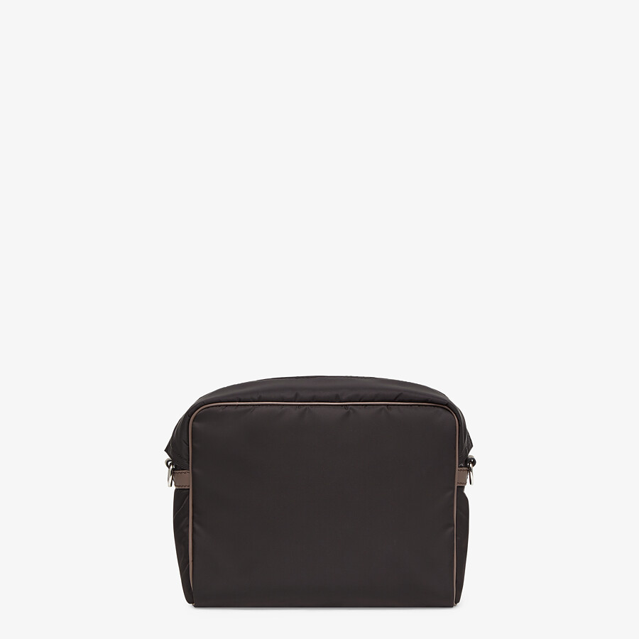 FENDI MESSENGER - Black nylon bag - view 4 detail