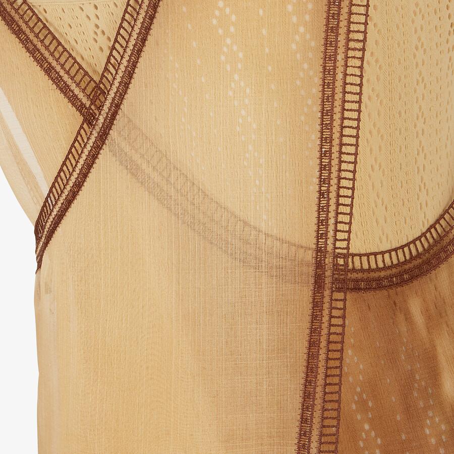 FENDI DRESS - Yellow silk dress - view 3 detail