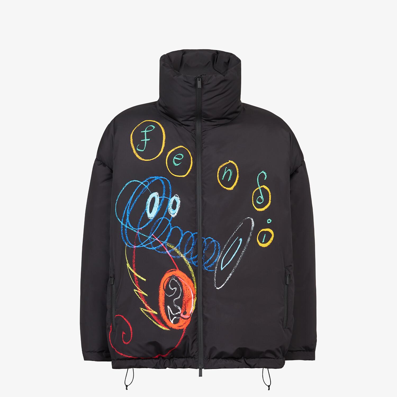 FENDI DOWN JACKET - Black tech fabric jacket - view 1 detail