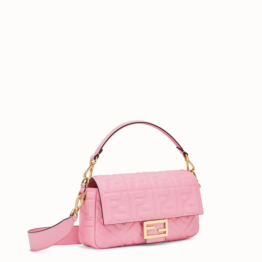 FENDI BAGUETTE - Pink nappa leather bag - view 2 detail