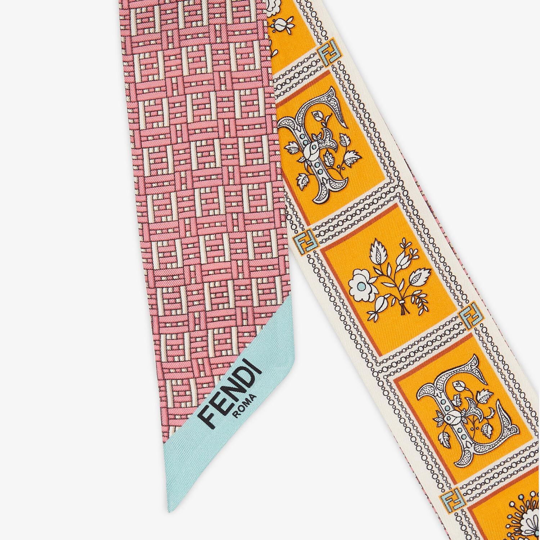FENDI WRAPPY - Orange silk bandeau - view 2 detail