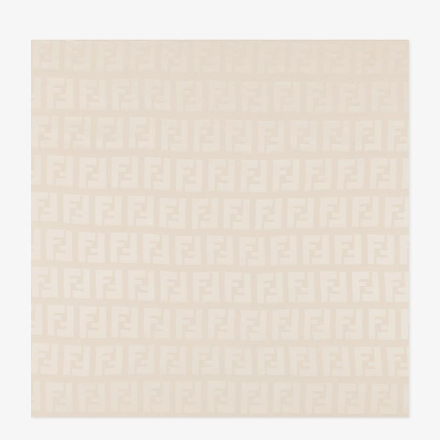 FENDI STOLE - Stole in pink silk - view 1 detail