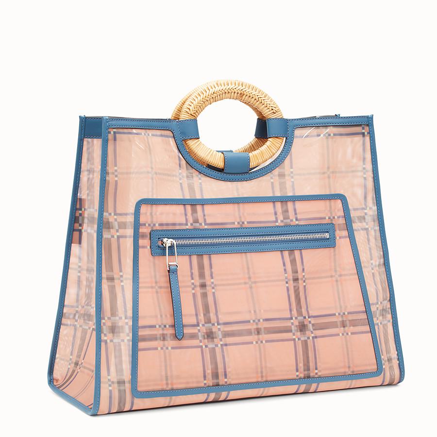FENDI RUNAWAY購物袋 - 拼色皮革和網眼布購物袋 - view 2 detail