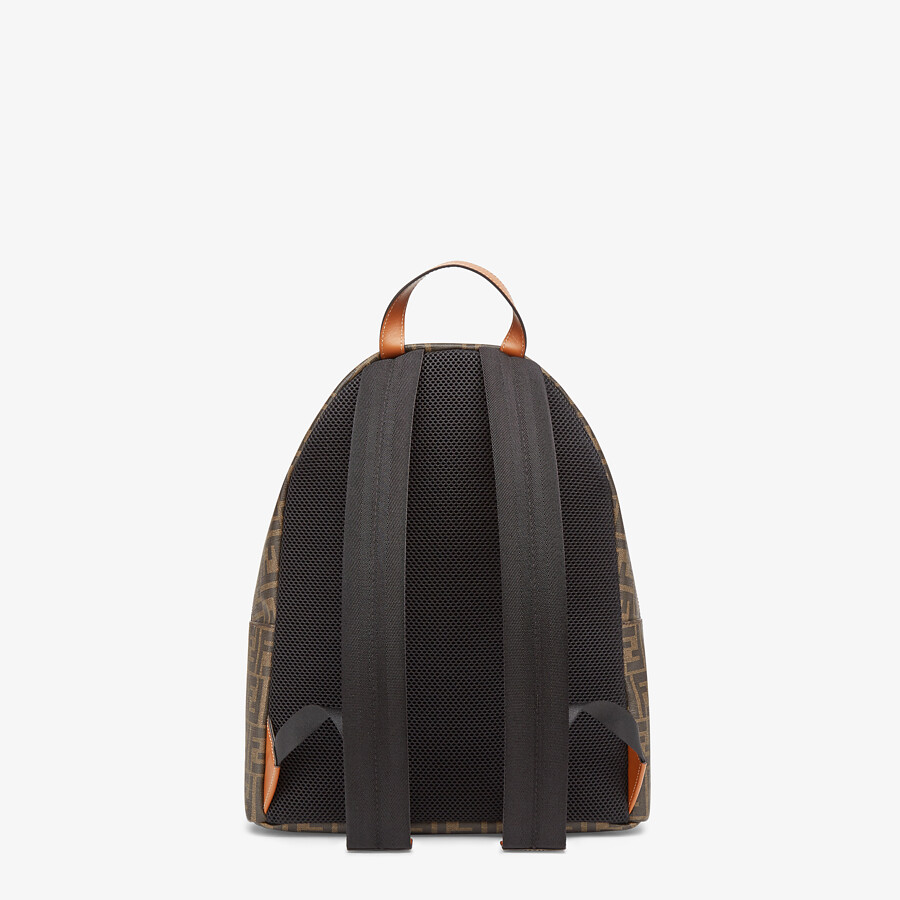 FENDI BACKPACK - Brown fabric backpack - view 3 detail