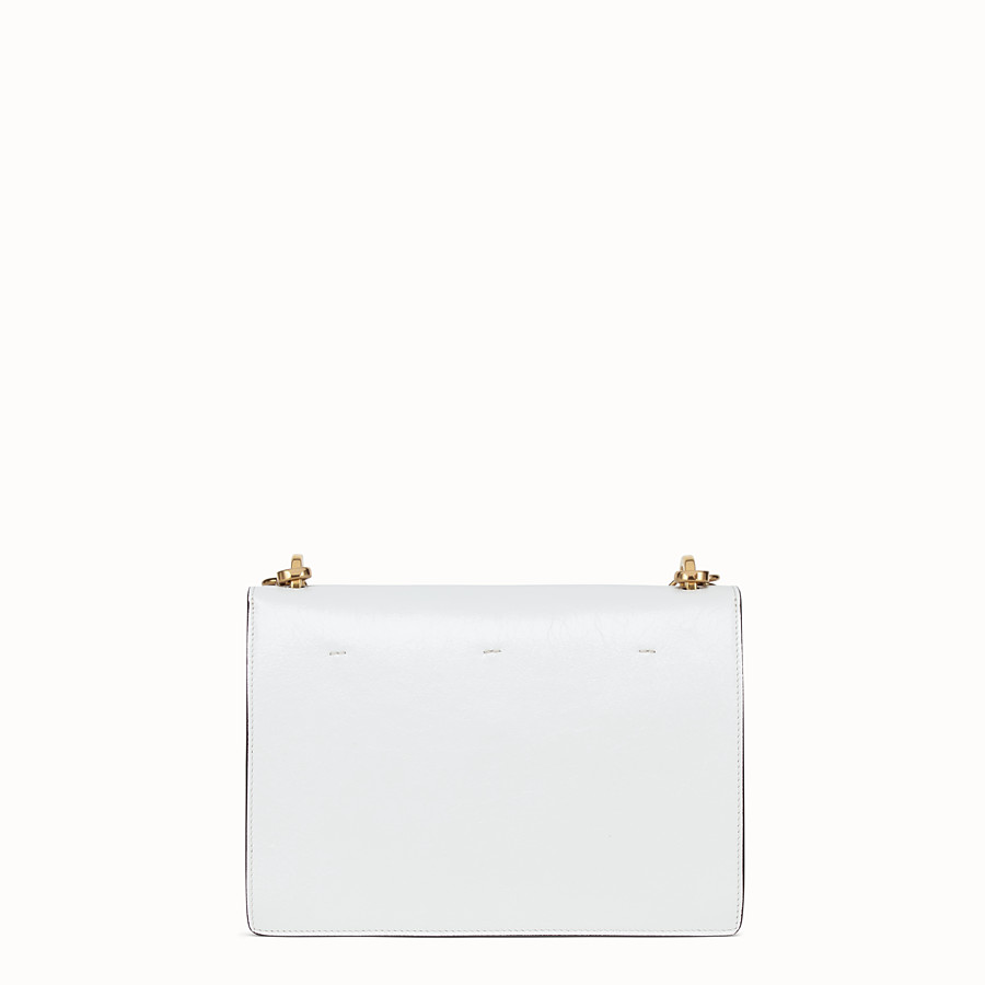 FENDI KAN U - White leather bag - view 3 detail