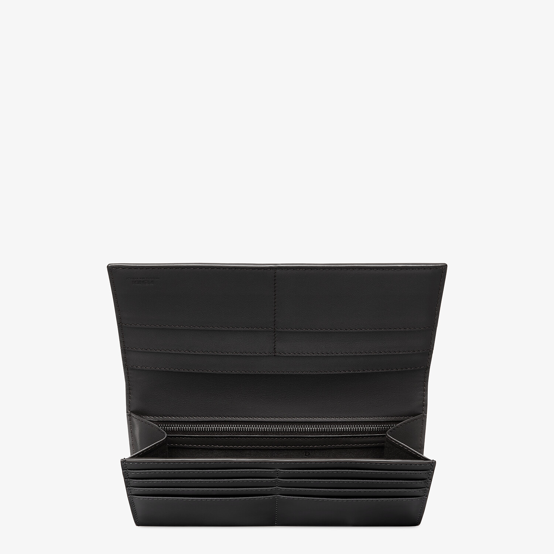 FENDI CONTINENTAL - Black leather wallet - view 3 detail