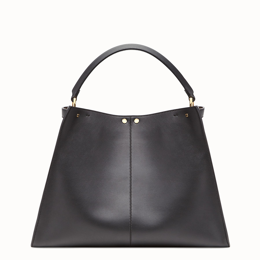 FENDI PEEKABOO X-LITE LARGE - Black leather bag - view 5 detail
