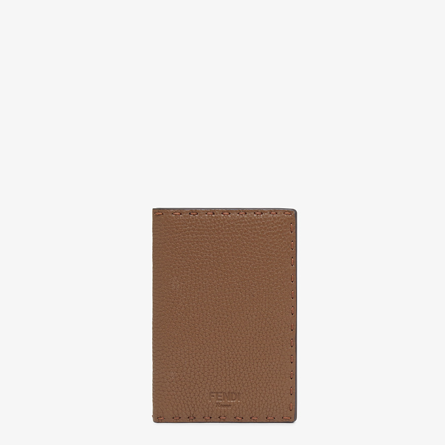 FENDI PASSPORT COVER - Brown leather passport cover - view 1 detail