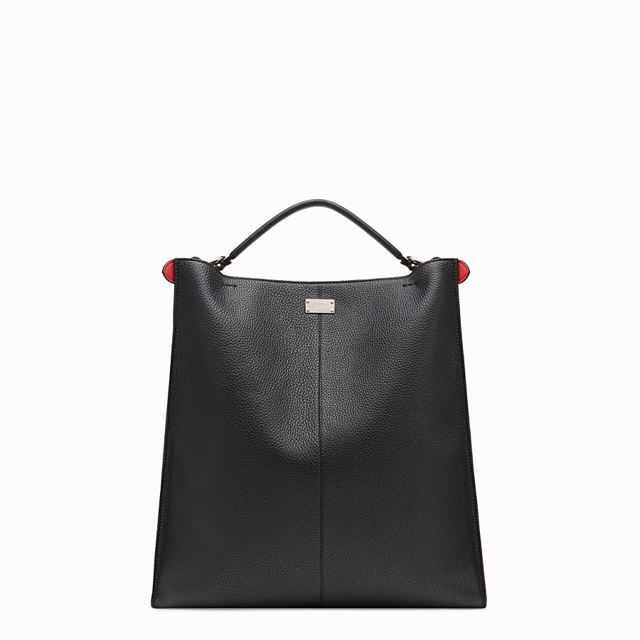 FENDI PEEKABOO X-LITE FIT - Black leather bag - view 4 detail