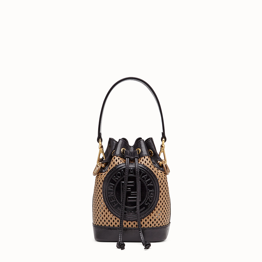 FENDI MON TRESOR - Beige leather minibag - view 1 detail