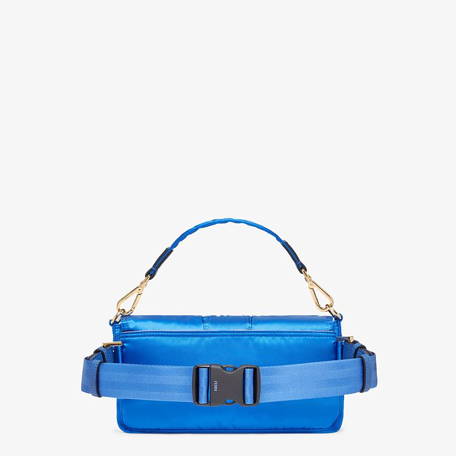FENDI BAGUETTE FENDI AND PORTER - Blue nylon bag - view 3 detail