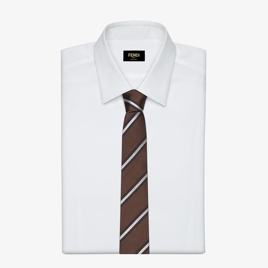 FENDI TIE - Brown silk necktie - view 2 detail