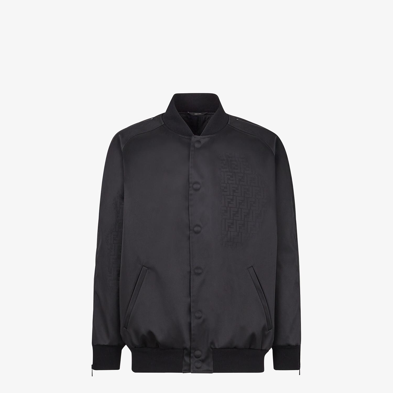 FENDI BOMBER - Black nylon bomber jacket - view 1 detail