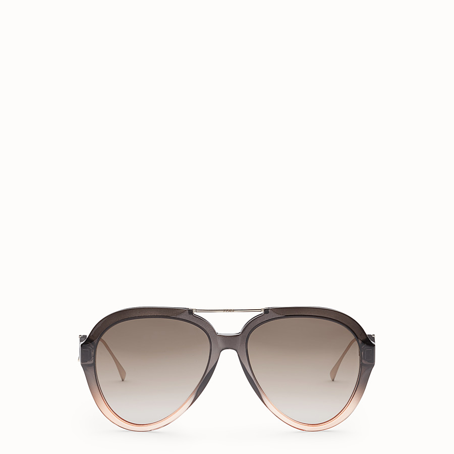 FENDI TROPICAL SHINE - Gray and pink sunglasses - view 1 detail