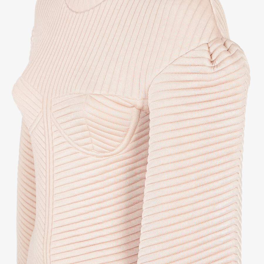 FENDI DRESS - Pink quilted fabric dress - view 3 detail