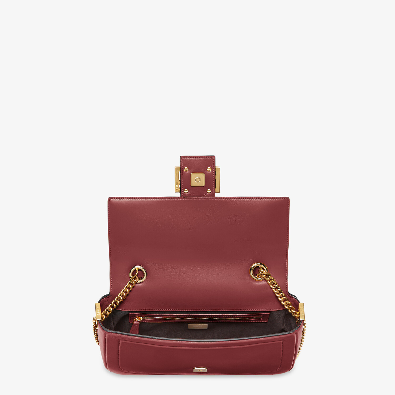 FENDI BAGUETTE CHAIN - Red nappa leather bag - view 4 detail