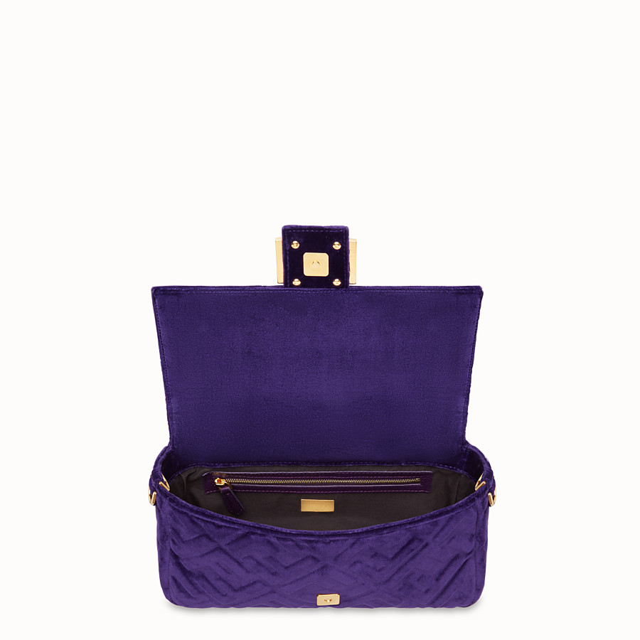 FENDI BAGUETTE - Purple velvet bag - view 4 detail
