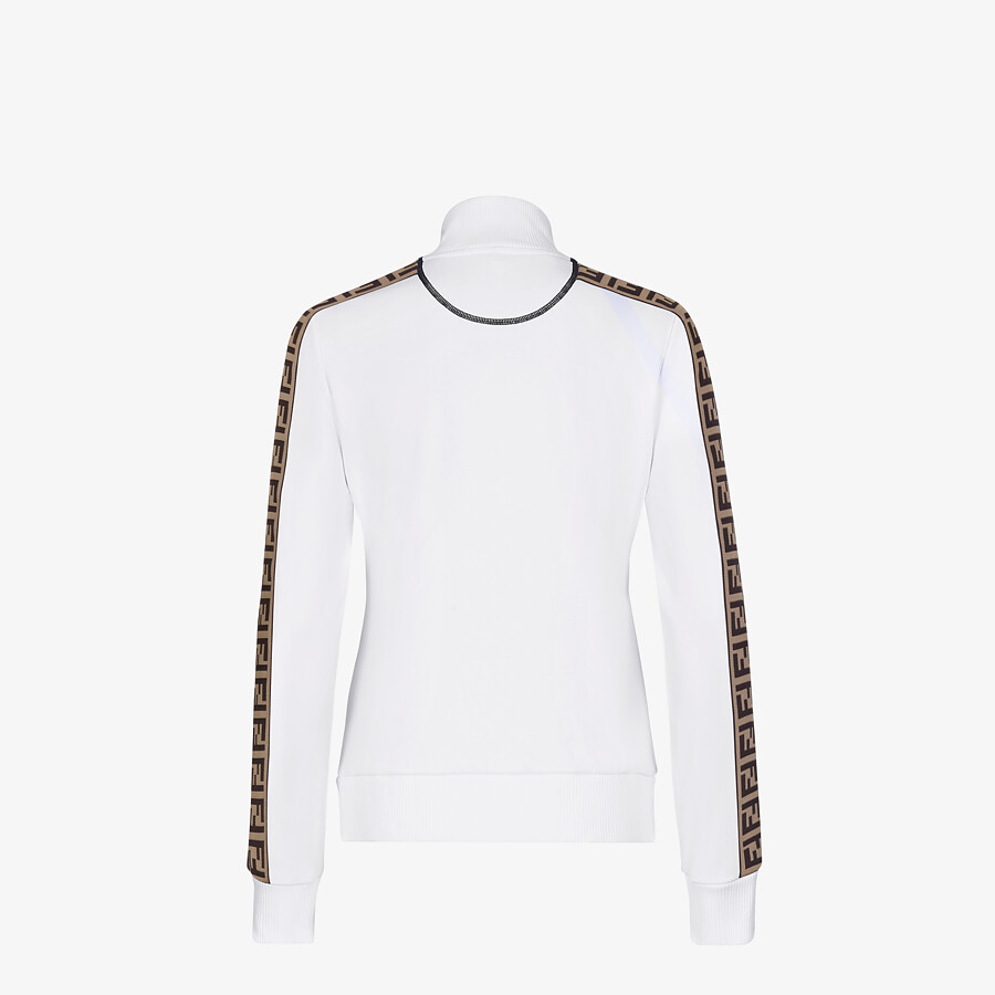 FENDI SWEATSHIRT - White jersey tracksuit sweatshirt - view 2 detail